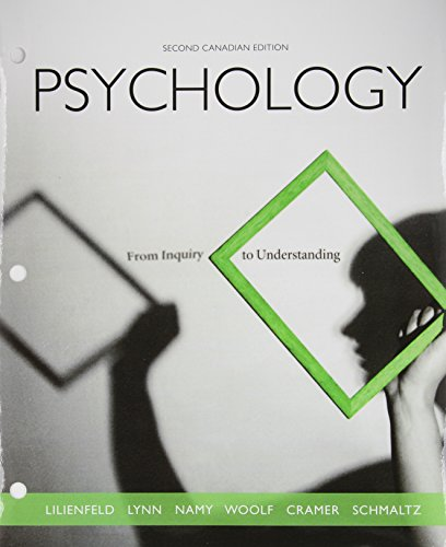 9780205960538: Psychology: From Inquiry to Understanding, Second Canadian Edition, Loose Leaf Version (2nd Edition) [Loose Leaf]