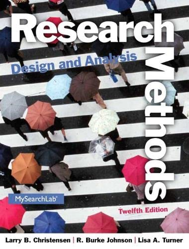 9780205961252: Research Methods, Design, and Analysis (12th Edition)