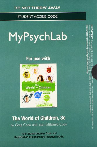9780205961405: NEW MyPsychologyLab without Pearson eText -- Standalone Access Card -- for The World of Children (3rd Edition)