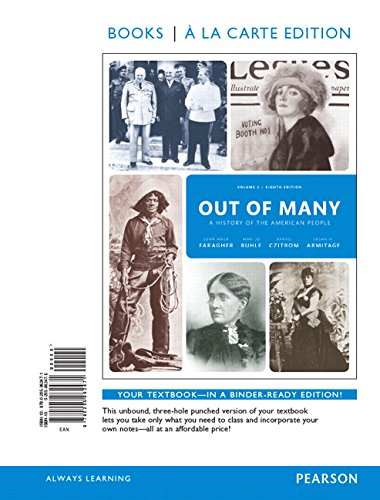 9780205962471: Out of Many: A History of the American People, Volume 2, Books a la Carte Edition (8th Edition)