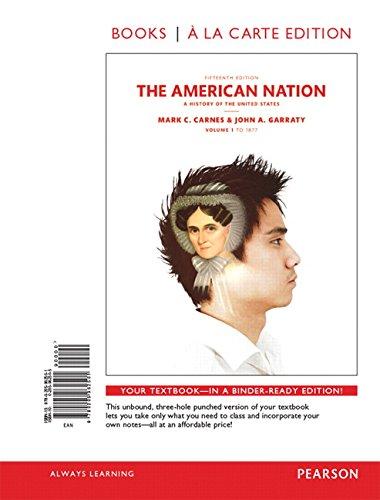 9780205962501: American Nation, The, Volume 1, Books a la Carte Edition (15th Edition)