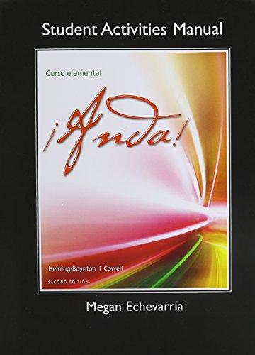 9780205963836: ¡Anda! Curso elemental, Books a la Carte Edition & MySpanishLab with Pearson eText -- Access Card -- for Anda! Curso Elemental (multi-semester ... Manual for ¡Anda! Curso elemental Package