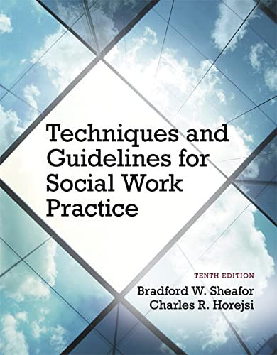 9780205965106: Techniques and Guidelines for Social Work Practice