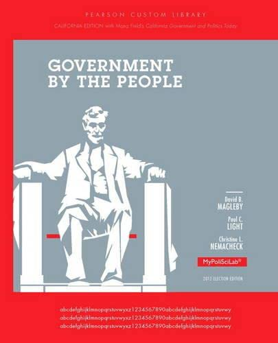 9780205966257: Government by the People: California Edition
