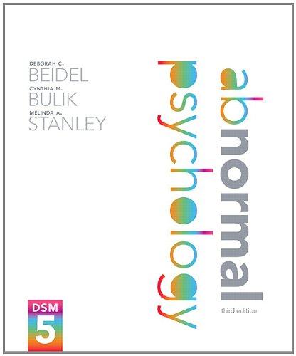 9780205966547: Abnormal Psychology (3rd Edition)