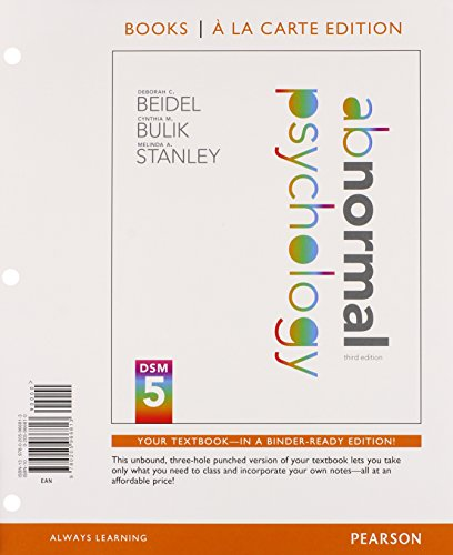 9780205966813: Abnormal Psychology, Books a la Carte Edition (3rd Edition)
