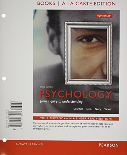 9780205966820: Psychology: From Inquiry to Understanding, Books a la Carte Edition Plus NEW MyPsychLab with Pearson eText (3rd Edition)