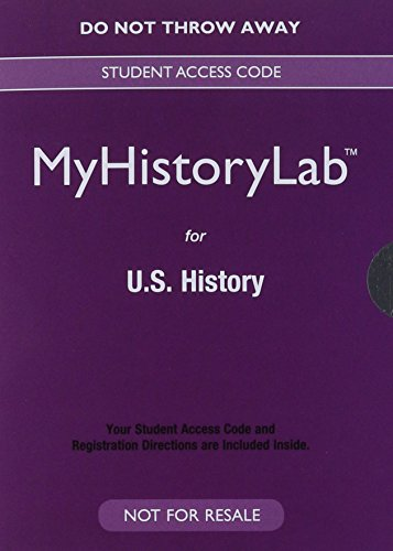 9780205967773: NEW MyHistoryLab for U.S. History -- Valuepack Access Card