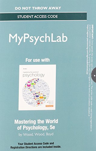 9780205968237: NEW MyPsychLab without Pearson eText -- Standalone Access Card - for Mastering the World of Psychology (5th Edition)