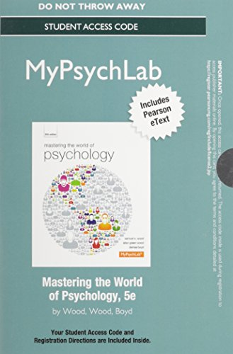 9780205968329: NEW MyPsychLab with Pearson eText - Standalone Access Card - for Mastering the World of Psychology (5th Edition)