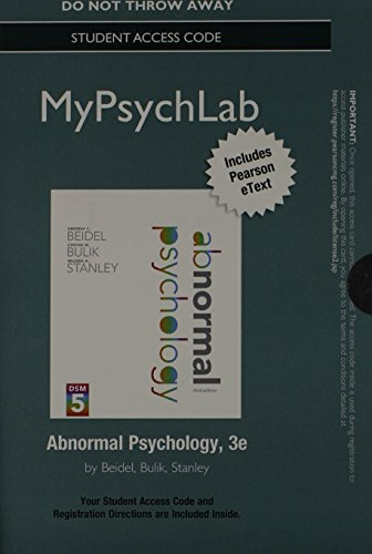 9780205968350: NEW MyPsychLab with Pearson eText -- Standalone Access Code -- for Abnormal Psychology (3rd Edition)