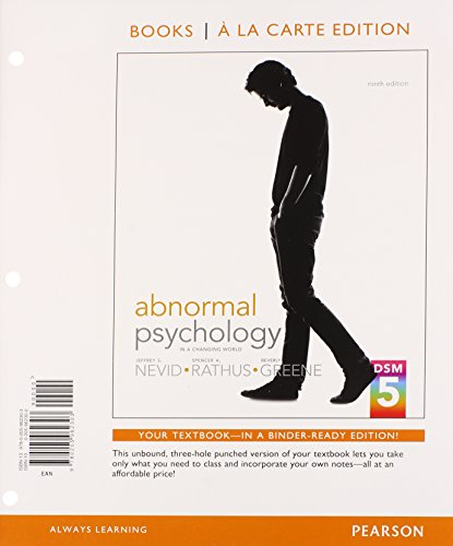 Abnormal Psychology in a Changing World, Books