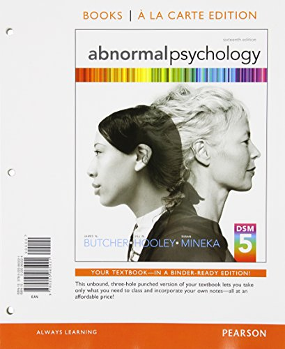 9780205969869: Abnormal Psychology, Books a la Carte Plus NEW MyPsychLab with eText -- Access Card Package (16th Edition)