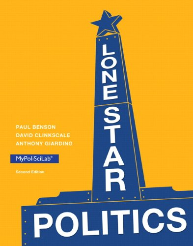 9780205970810: Lone Star Politics (2nd Edition)