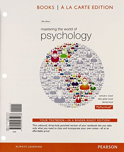 9780205971978: Mastering the World of Psychology, Books a la Carte Edition (5th Edition)