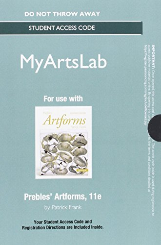 9780205972999: NEW MyArtsLab without Pearson eText --Standalone Access Card -- for Prebles' Artforms (11th Edition)
