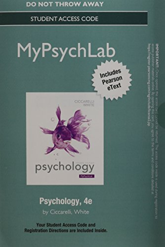 9780205973064: NEW MyPsychLab with Pearson eText -- Standalone Access Card -- for Psychology (4th Edition)