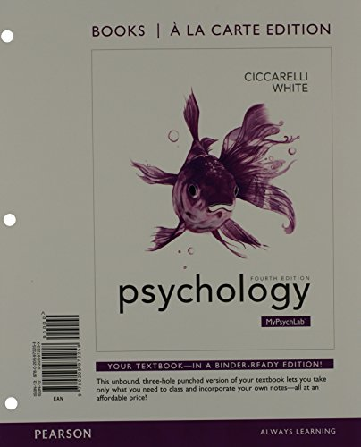 9780205977376: Psychology, Books a la Carte Plus NEW MyPsychLab with eText -- Access Card Package (4th Edition)
