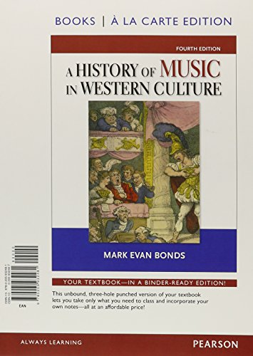 9780205977598: History of Music Western Culture, Books a la Carte Plus MySearchLab with eText -- Access Card Package (4th Edition)