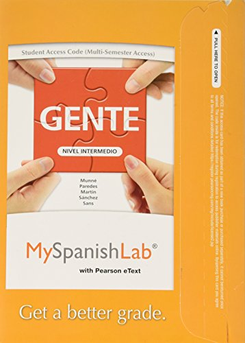 9780205977826: MyLab Spanish with Pearson eText -- Access Card -- for Gente: Nivel intermedio (multi-semester access)
