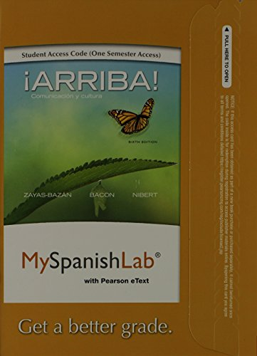 9780205977833: MySpanishLab with Pearson eText -- Access Card -- for Arriba: Comunicacion y cultura (one semester access) (6th Edition)