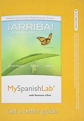 9780205977840: MySpanishLab with Pearson eText -- Access Card -- for Arriba: Comunicacion y cultura (multi semester access) (6th Edition)