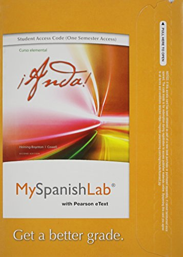 9780205977918: MyLab Spanish with Pearson eText -- Access Card -- for Anda Curso Elemental (one semester access) (2nd Edition)