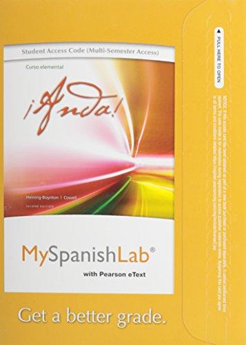 9780205977925: MySpanishLab with Pearson eText -- Access Card -- for Anda! Curso Elemental (multi-semester access) (2nd Edition)