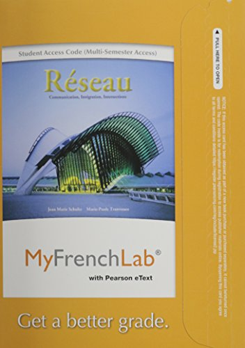 MyFrenchLab with Pearson eText -- Access Card: Jean Marie Schultz,
