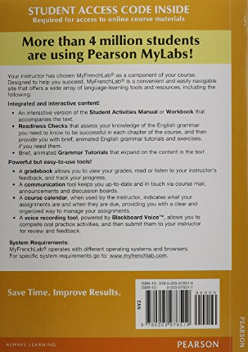9780205978519: MyFrenchLab with Pearson eText -- Access Card -- for Points de depart (one semester access) (2nd Edition)