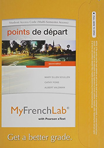 9780205978526: MyFrenchLab with Pearson eText -- Access Card -- for Points de depart (multi-semester access) (2nd Edition)