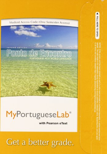 9780205978533: MyPortugueseLab with Pearson eText -- Access Card -- for Ponto de Encontro: Portuguese as a World Language (one semester access)