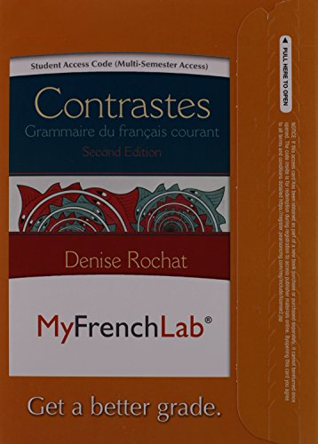 9780205978571: MyFrenchLab with Pearson eText -- Access Card -- for Contrastes: Grammaire du français courant (multi semester access) (2nd Edition)