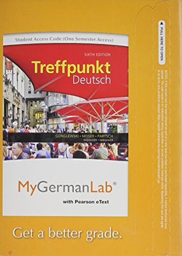 9780205978588: MyGermanLab with Pearson eText -- Access Card -- for Treffpunkt Deutsch Grundstufe (one semester access) (6th Edition)