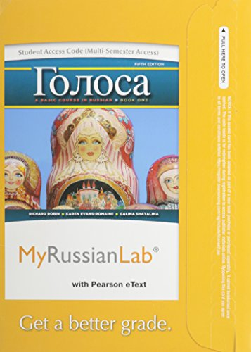 9780205978816: MyRussianLab with Pearson eText -- Access Card -- for Golosa: A Basic Course in Russian, Book One (multi semester access) (5th Edition)