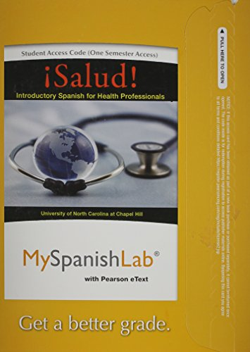 9780205978823: MySpanishLab with Pearson eText -- Access Card -- for ¡Salud!: Introductory Spanish for Health Professionals (one semester access)
