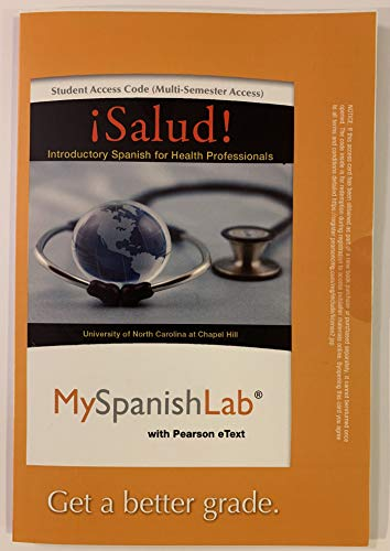 9780205978830: MySpanishLab with Pearson eText -- Access Card -- for ¡Salud!: Introductory Spanish for Health Professionals (multi semester access)