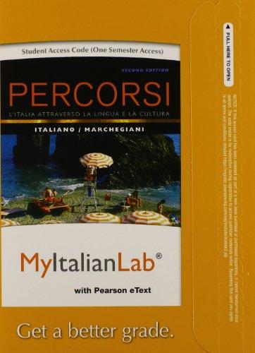 9780205978847: MyItalianLab with Pearson eText -- Access Card -- for Percorsi: L'Italia attraverso la lingua e la cultura (one semester access) (2nd Edition)