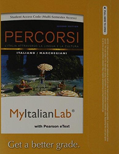 9780205978854: MyItalianLab with Pearson eText -- Access Card -- for Percorsi: L'Italia attraverso la lingua e la cultura (multi semester access) (2nd Edition)
