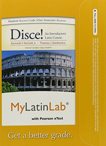 9780205978861: MyLatinLab with Pearson eText -- Access Card -- for Disce! An Introductory Latin Course (one semester access)