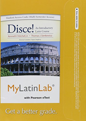 9780205978878: MyLatinLab with Pearson eText -- Access Card -- for Disce! An Introductory Latin Course (multi semester access)