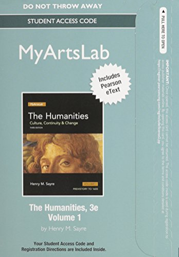 NEW MyArtsLab with Pearson eText -- Standalone Access Card -- for The Humanities: Culture, ...