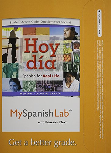9780205979158: MySpanishLab with Pearson eText -- Access Card -- for Hoy día: Spanish for Real Life Vols 1 & 2 (one semester access),