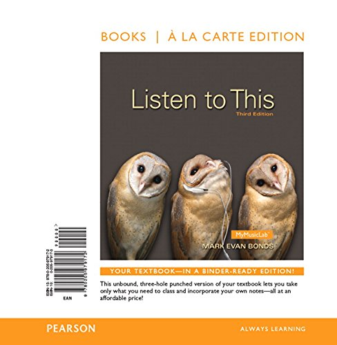 9780205979172: Listen to This, Books a la Carte Edition (3rd Edition)