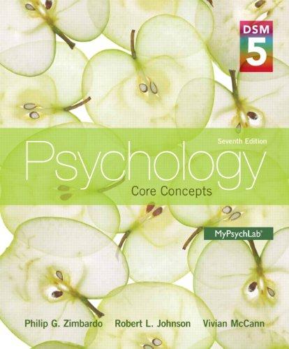 Psychology Core Concepts with Dsm-5 Update: Zimbardo, Philip G.; Johnson, Robert; Hamilton, Vivian ...