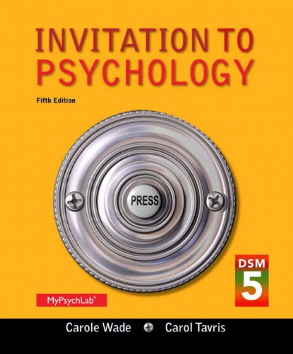 9780205979592: Invitation to Psychology with DSM-5 Update (5th Edition)