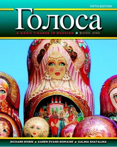 Golosa: A Basic Course in Russian, Book One Plus MyRussianLab with Pearson eText -- Access Card ...