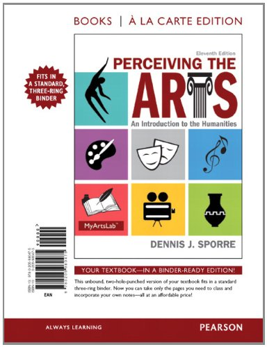 9780205980475: Perceiving the Arts: An Introduction to the Humanities, Books a la Carte Edition (11th Edition)