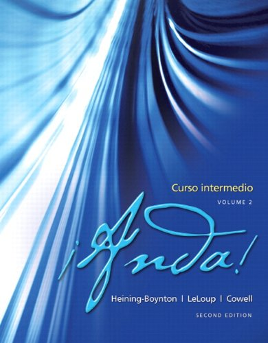 9780205981137: ¡Anda! Curso intermedio, Volume 2 Plus MySpanishLab (one semester with eText -- Access Card Package (2nd Edition)