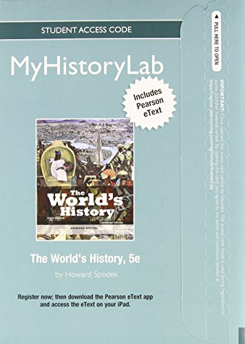 9780205981724: NEW MyLab History with Pearson eText -- Standalone Access Card -- for The World's History, Combined Volume (5th Edition)